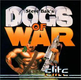 Box cover for Dogs of War on the Atari ST.