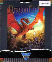 Box cover for Dragonflight on the Atari ST.