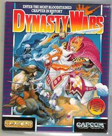 Box cover for Dynasty Wars on the Atari ST.