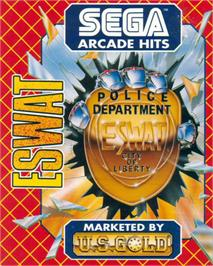 Box cover for E-SWAT: Cyber Police on the Atari ST.
