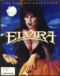 Box cover for Elvira: Mistress of the Dark on the Atari ST.