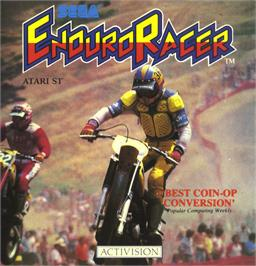 Box cover for Enduro Racer on the Atari ST.