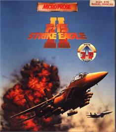 Box cover for F-15 Strike Eagle 2 on the Atari ST.