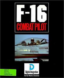 Box cover for F-16 Combat Pilot on the Atari ST.