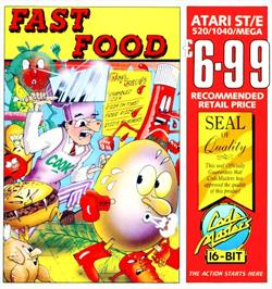 Box cover for Fast Food on the Atari ST.