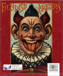 Box cover for Fiendish Freddy's Big Top O' Fun on the Atari ST.