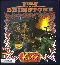 Box cover for Fire and Brimstone on the Atari ST.
