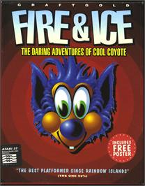 Box cover for Fire and Ice on the Atari ST.