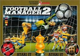 Box cover for Football Manager 2 on the Atari ST.