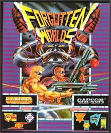 Box cover for Forgotten Worlds on the Atari ST.