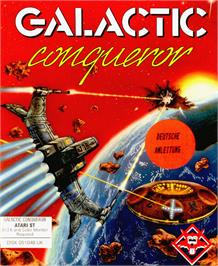 Box cover for Galactic Conqueror on the Atari ST.
