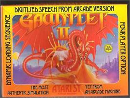 Box cover for Gauntlet II on the Atari ST.