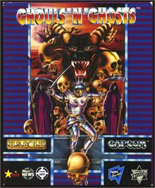 Box cover for Ghouls'n Ghosts on the Atari ST.