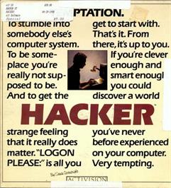 Box cover for Hacker on the Atari ST.