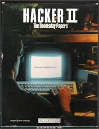 Box cover for Hacker 2: The Doomsday Papers on the Atari ST.