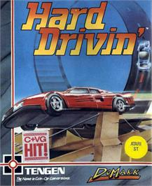 Box cover for Hard Drivin' on the Atari ST.