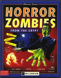 Box cover for Horror Zombies from the Crypt on the Atari ST.