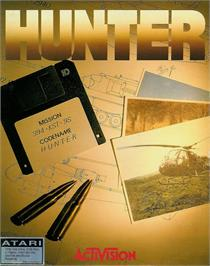 Box cover for Hunter on the Atari ST.