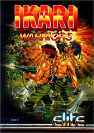 Box cover for Ikari Warriors on the Atari ST.