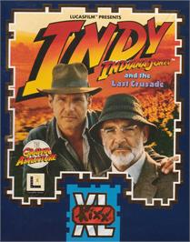 Box cover for Indiana Jones and the Last Crusade: The Graphic Adventure on the Atari ST.