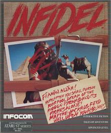 Box cover for Infidel on the Atari ST.