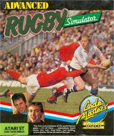 Box cover for International Rugby Simulator on the Atari ST.