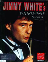 Box cover for Jimmy White's Whirlwind Snooker on the Atari ST.