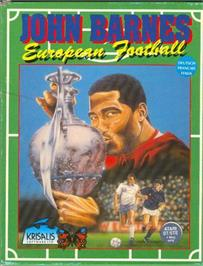 Box cover for John Barnes' European Football on the Atari ST.
