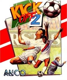 Box cover for Kick Off 2 on the Atari ST.