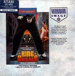 Box cover for King of Chicago on the Atari ST.