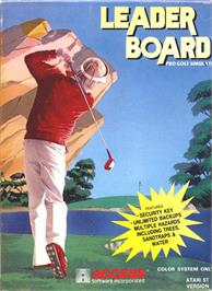 Box cover for Leader Board on the Atari ST.