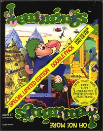 Box cover for Lemmings on the Atari ST.