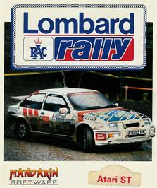 Box cover for Lombard RAC Rally on the Atari ST.