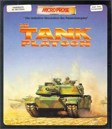 Box cover for M1 Tank Platoon on the Atari ST.