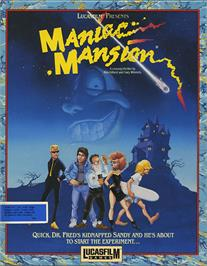 Box cover for Maniac Mansion on the Atari ST.