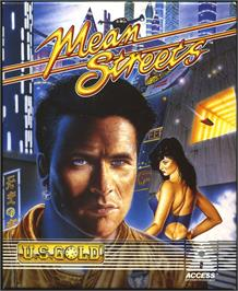 Box cover for Mean Streets on the Atari ST.