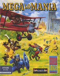Box cover for Mega Lo Mania & First Samurai on the Atari ST.