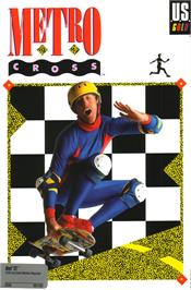 Box cover for Metro-Cross on the Atari ST.