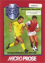 Box cover for Microprose Pro Soccer on the Atari ST.