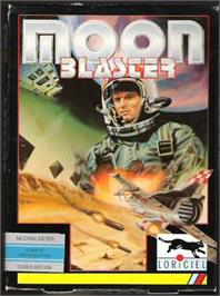 Box cover for Moon Blaster on the Atari ST.