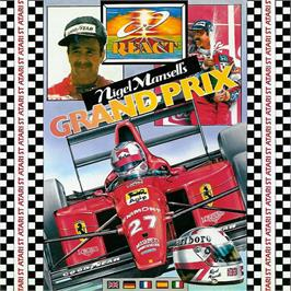 Box cover for Nigel Mansell's Grand Prix on the Atari ST.