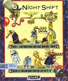 Box cover for Night Shift on the Atari ST.