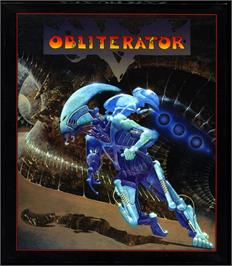 Box cover for Obliterator on the Atari ST.