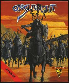 Box cover for Onslaught on the Atari ST.