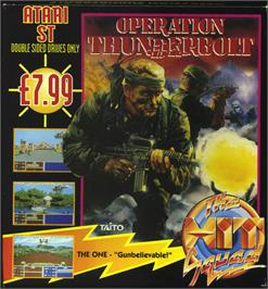 Box cover for Operation Thunderbolt on the Atari ST.
