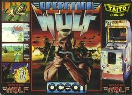 Box cover for Operation Wolf on the Atari ST.