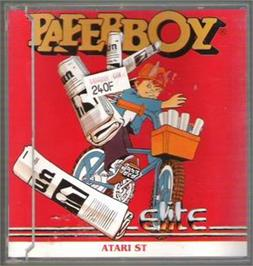 Box cover for Paperboy on the Atari ST.