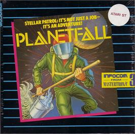 Box cover for Planetfall on the Atari ST.