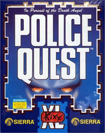 Box cover for Police Quest: In Pursuit of the Death Angel on the Atari ST.