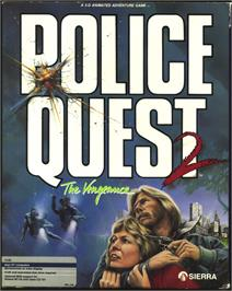 Box cover for Police Quest 2: The Vengeance on the Atari ST.